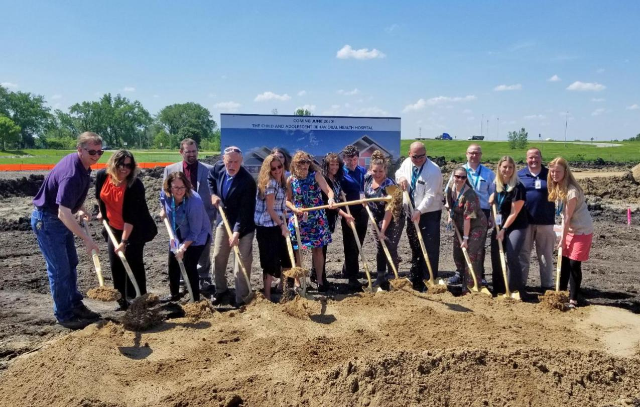 AFSCME CABHS staff break ground at the new 16-bed hospital in Willmar